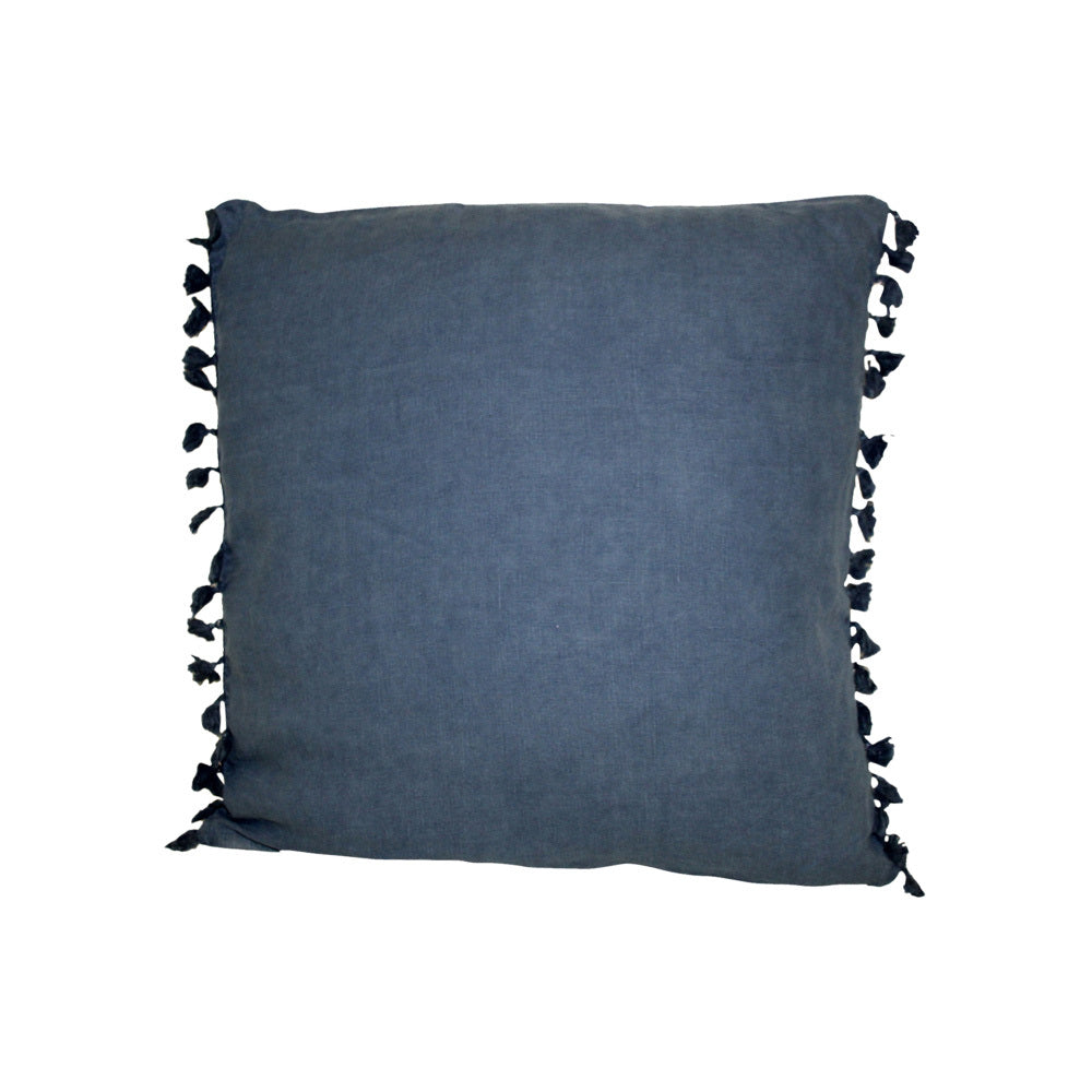 Linen Square Navy Cushion