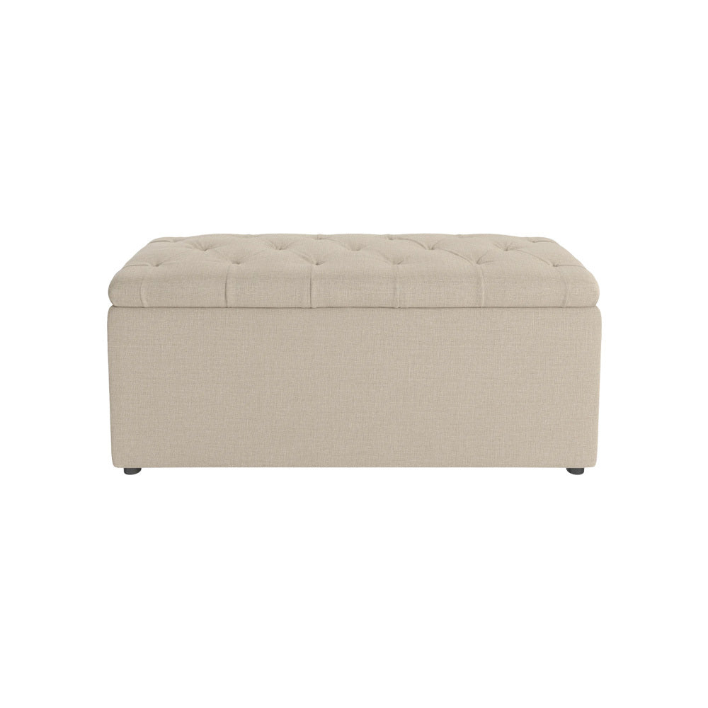Northampton Rectangle Linen Ottoman
