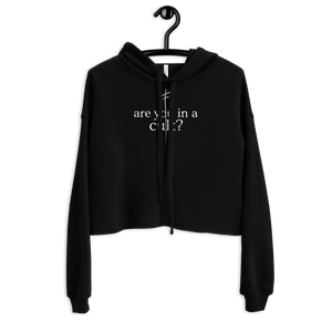 Are You In A Cult - Cropped Hoodie