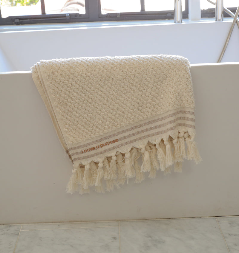 Cream Turkish Loop Bath Sheet