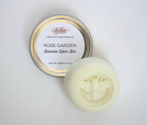 Rose Garden Beeswax Lotion Bar