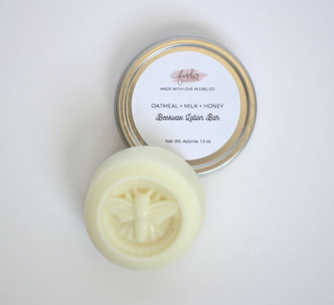 Oatmeal + Milk + Honey Beeswax Lotion Bar