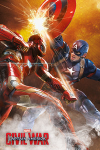 Captain america civil war fight