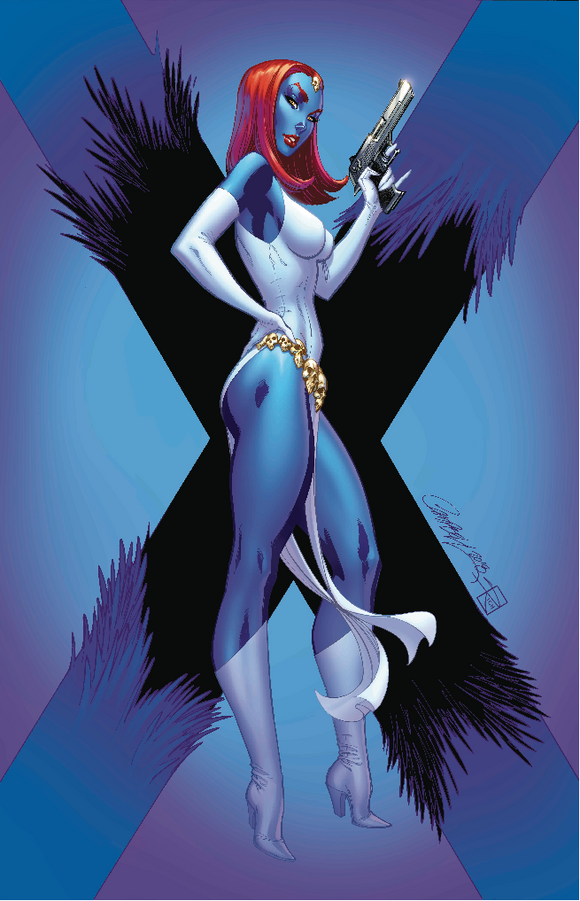 X-MEN BLACK MYSTIQUE BY J SCOTT CAMPBELL POSTER