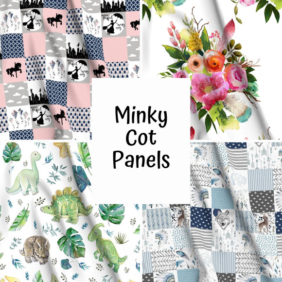 Minky Printed Cot Panels