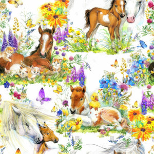 PRE- PURCHASE NOW OPEN -'Pretty Ponies' 290GSM Minky per metre