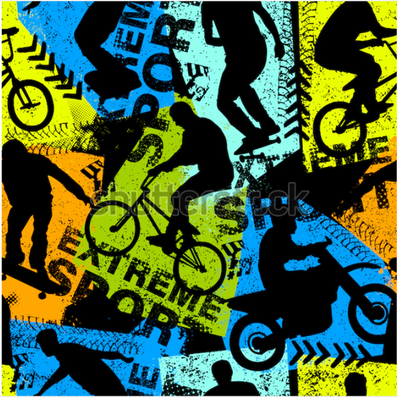 'Extreme Sports' 290GSM Minky per metre