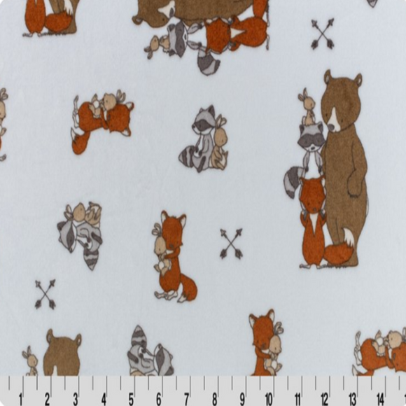 MINKY FABRIC - Besties Woodland Print by Shannon Fabrics