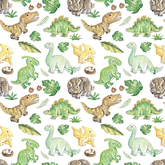PRE- PURCHASE NOW OPEN -'Hello Dino' 290GSM Minky per metre