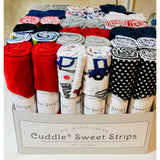 Sweet Strips Swiss Dot Cuddle®Black
