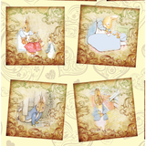 PRE- PURCHASE NOW OPEN -'Vintage Bunnies' 290GSM Minky per metre