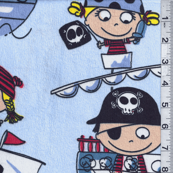 CLEARANCE - OFFCUT 50 x 80 - Minky Lil Pirates