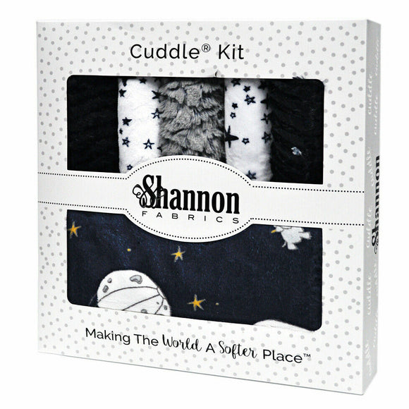 COMING SOON - NOT YET AVAILABLE TO ORDER  Wee One Cuddle Kit Moonwalk Navy by Shannon Fabrics