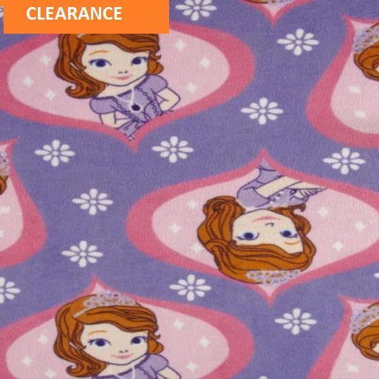 MINKY FABRIC - Princess Sofia