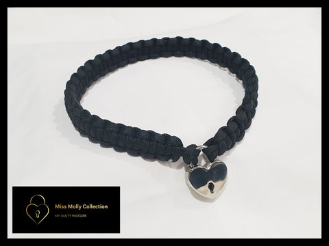 Classic Black Day Collar & Heart Lock
