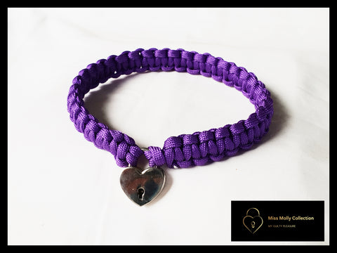 Classic Purple Day Collar & Heart Lock