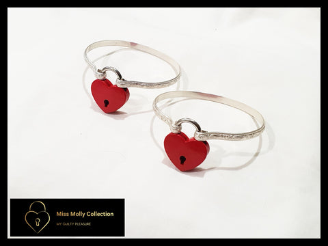 Sterling Silver & Red Cuff Set
