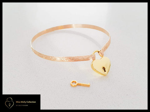 Gold Day Collar & Heart Lock