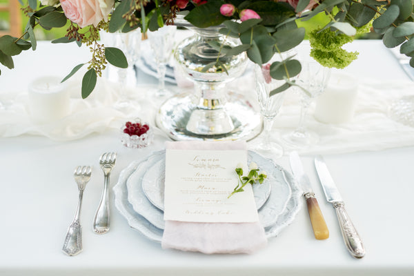 We now do tableware rental for weddings !