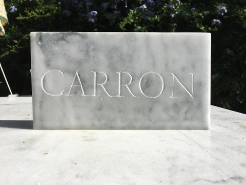 marble stone engrave with chisel CARRON