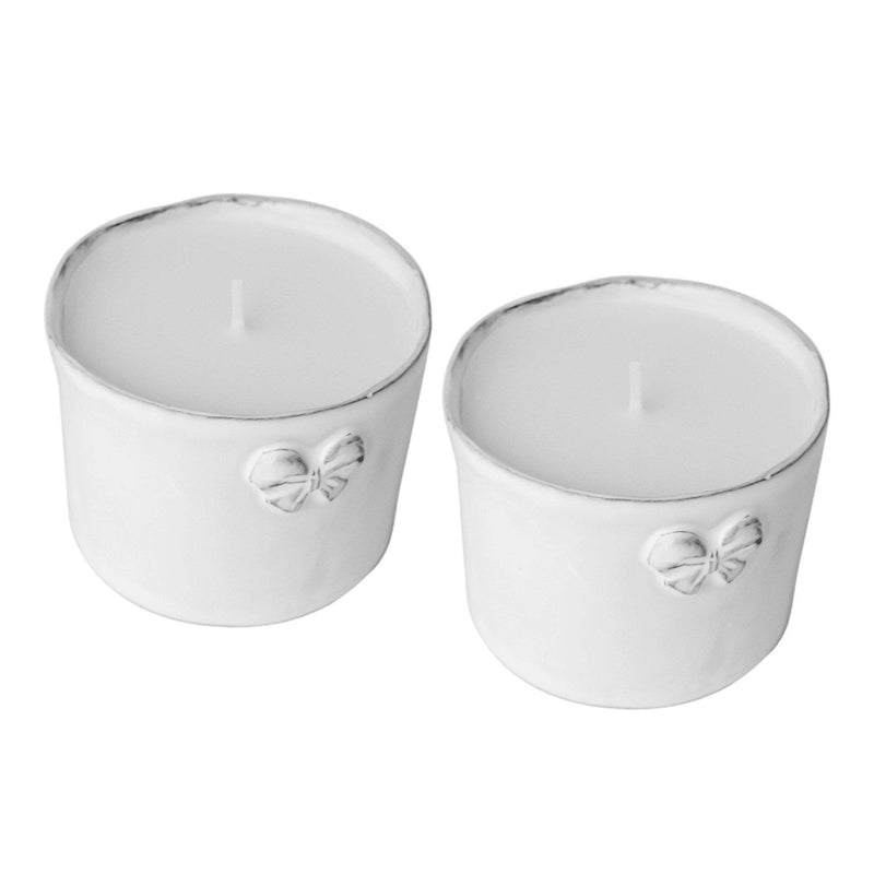 2x Marie-Antoinette Candle-8x8x6cm-2x knot candle-Handmade in France by CARRON