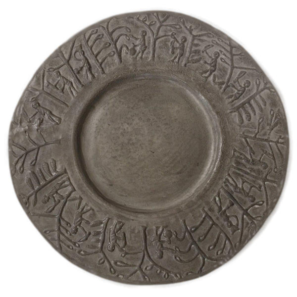 Afrique platter-65x65x3cm-Handmade in France by CARRON