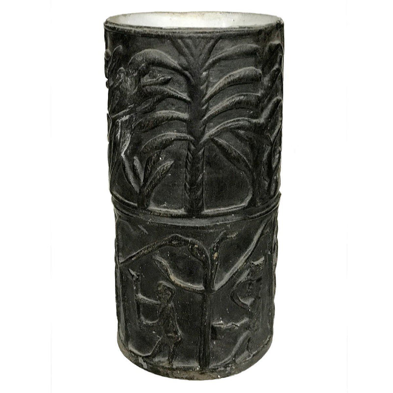 Afrique vase-14x14x29cm-Handmade in France by CARRON