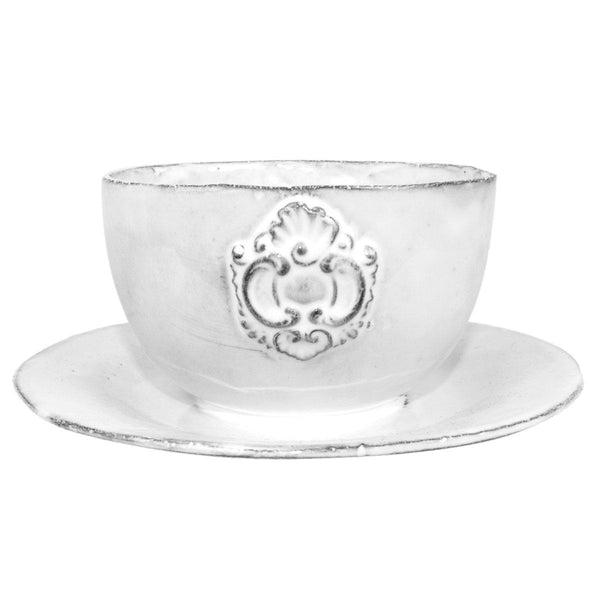 Charles bowl with saucer-18x18x8cm-Handmade in France by CARRON