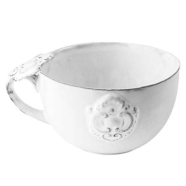 Charles chocolate cup-12x12x7,2cm-Decorated handle-Handmade in France by CARRON