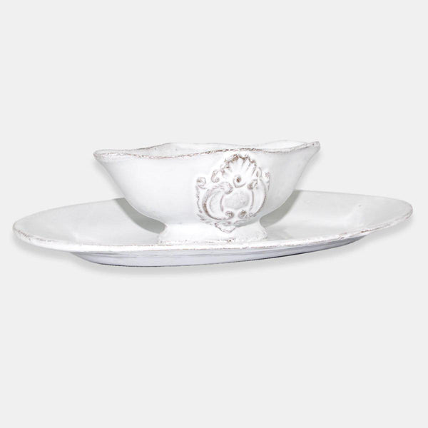 Charles gravy boat with saucer-20x14x5,3cm-Handmade in France by CARRON