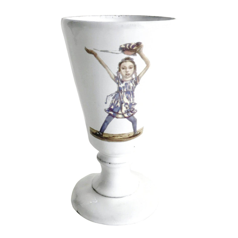 Dancer footed vase-8x8x14cm-Handmade in France by CARRON