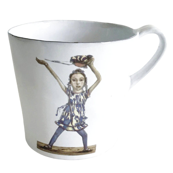 Dancer mug with handle-L (10x10x12cm)-Handmade in France by CARRON