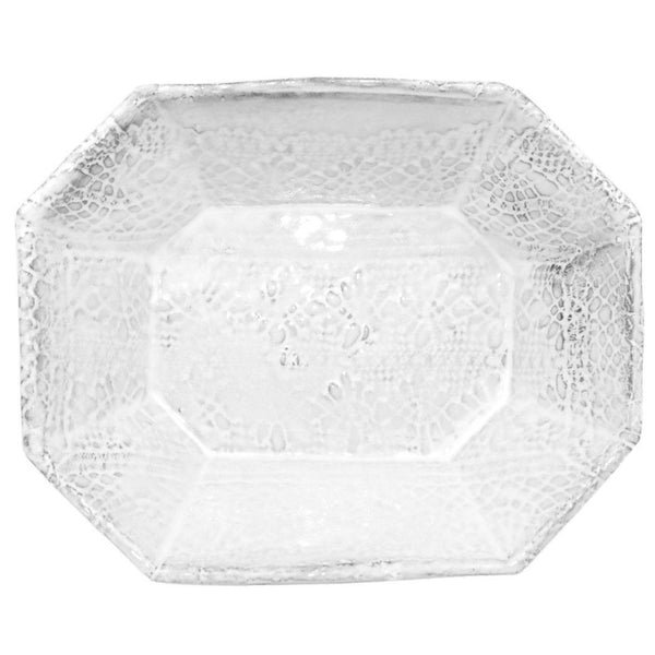Dentelle platter-Shallow platter (21x17x6cm)-Handmade in France by CARRON