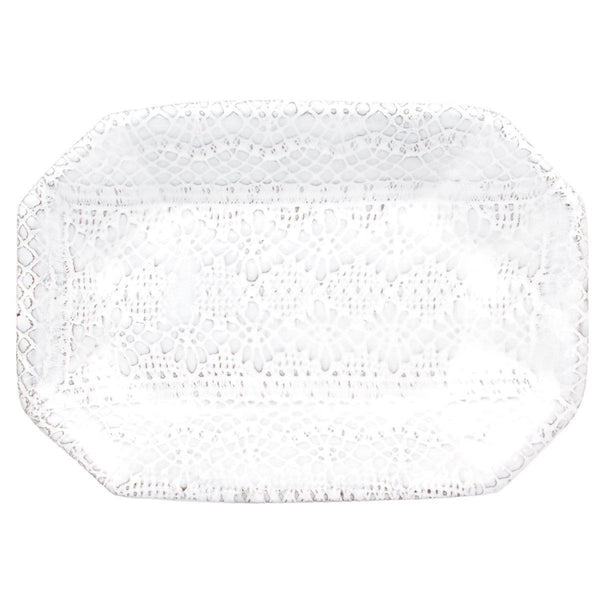 Dentelle rectangular plate-Flat plate (23x16x2,8cm)-Handmade in France by CARRON