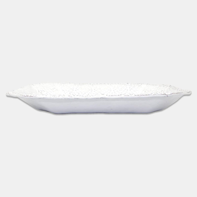 Dentelle rectangular plate-Handmade in France by CARRON