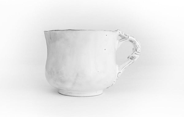 Fleur de Lys flared cup-8x8x6,5cm-Handmade in France by CARRON