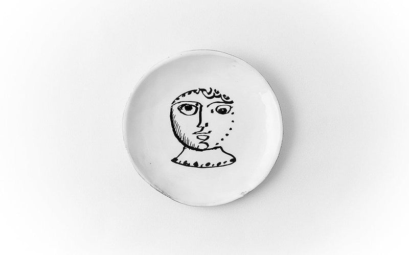 Le col plate-Bread plate ⌀14-Handmade in France by CARRON