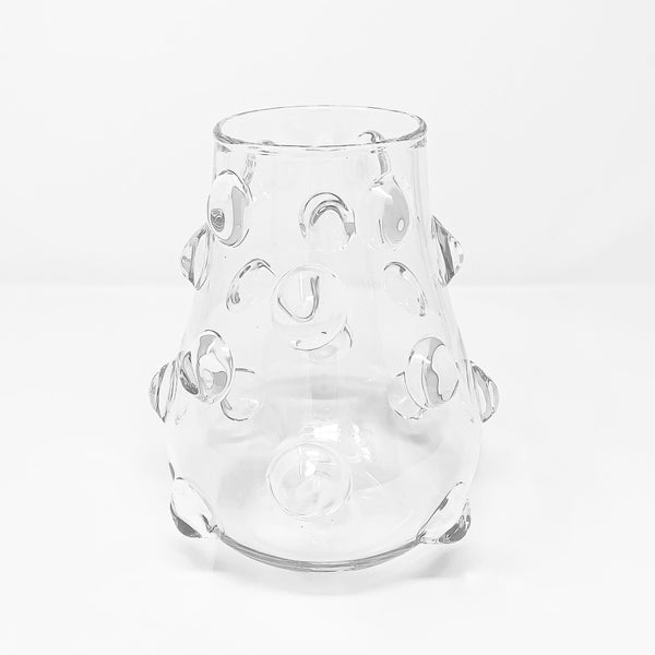 Mademoiselle glass vase-S (⌀15 H19cm)-CARRON-Paris