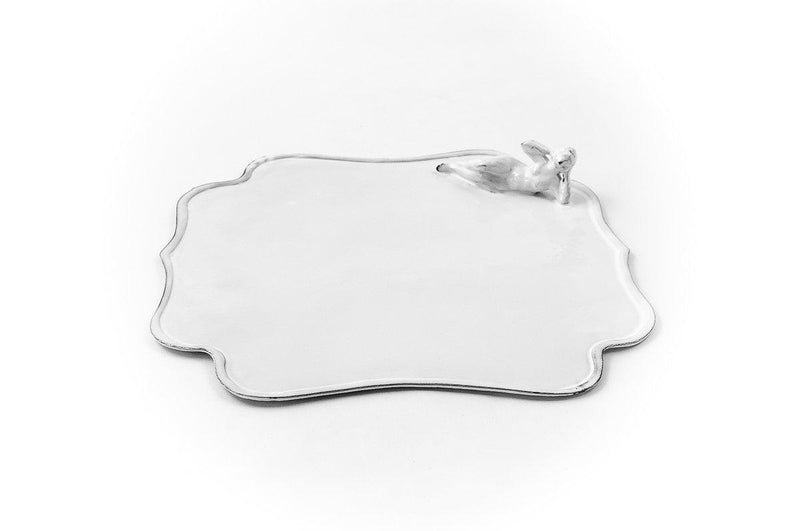 Mademoiselle square swimmer platter-38x29,5x4,5cm-Handmade in France by CARRON