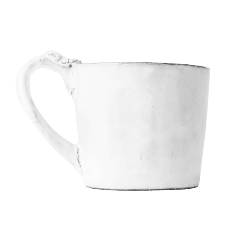 Marie-Antoinette flower mug with handle-S (6,2x6,2x6cm)-Handmade in France by CARRON