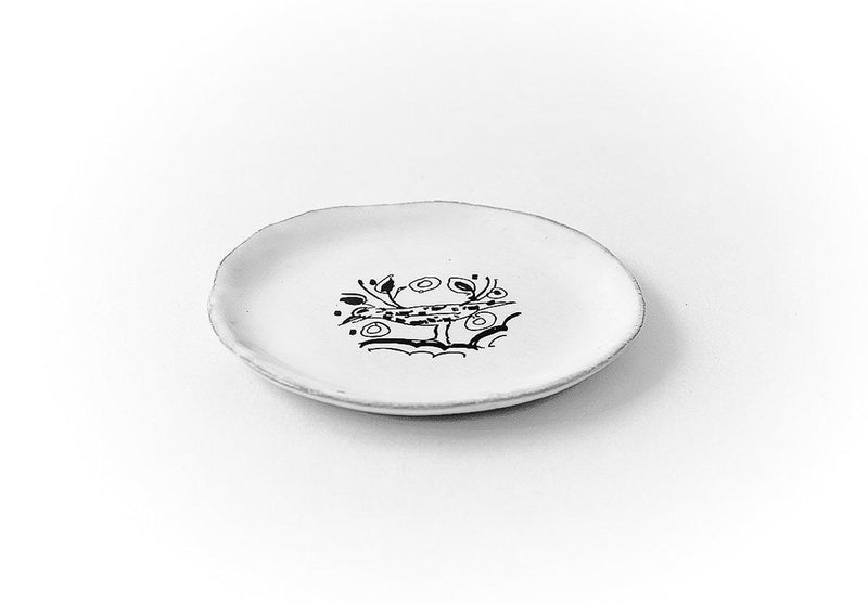 Merle Moqueur plate-Handmade in France by CARRON