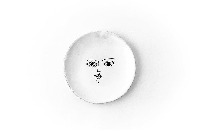 Moon plate-Bread plate ⌀14 H0,8-Handmade in France by CARRON