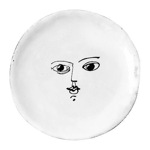 Moon plate-Butter plate ⌀11,2 H0,8-Handmade in France by CARRON