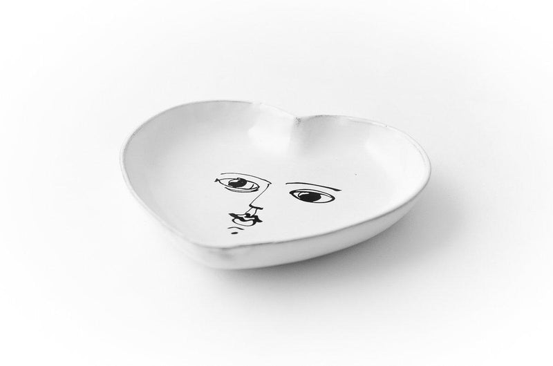 Pierre Carron ceramic heart-Handmade in France by CARRON