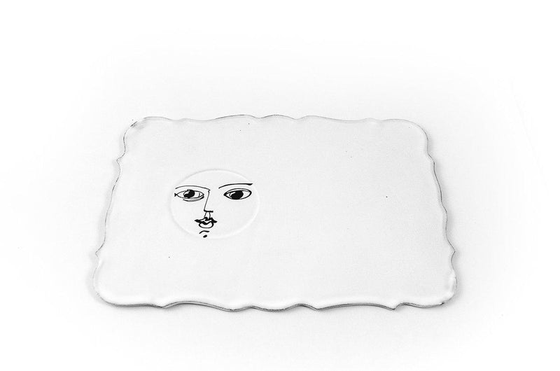 Pierre Carron rectangular saucer-Handmade in France by CARRON