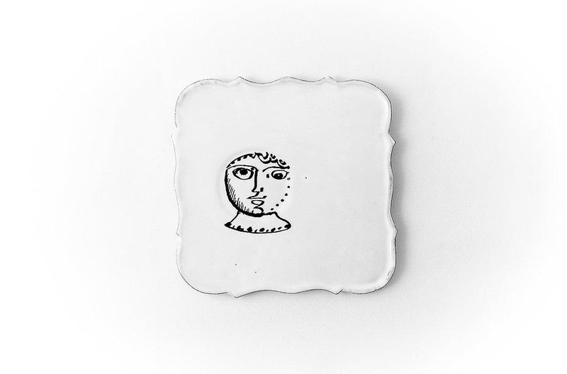 Pierre Carron square saucer-Col-15x15x0,4cm-Handmade in France by CARRON