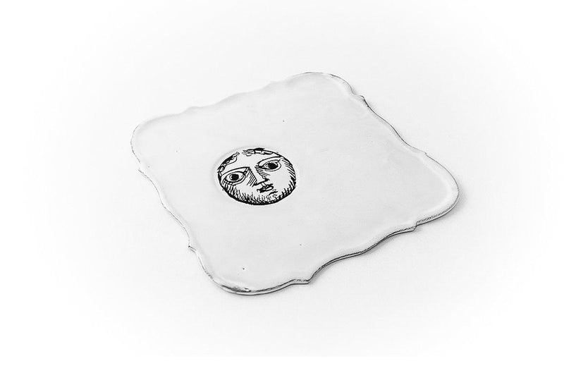 Pierre Carron square saucer-Handmade in France by CARRON