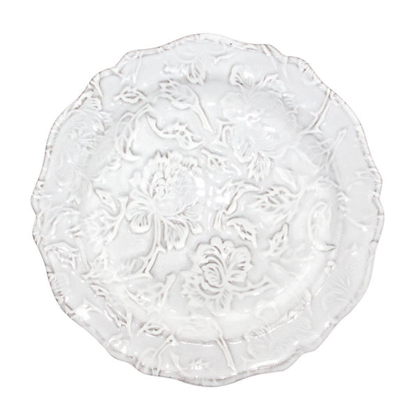 Pivoine chiseled plate-Dessert plate ⌀23-Handmade in France by CARRON