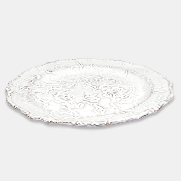 Pivoine chiseled plate-Handmade in France by CARRON