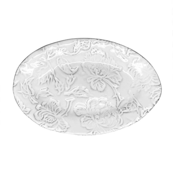 Pivoine oval plate-21x14x1,8cm-Handmade in France by CARRON